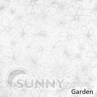 Рулонные шторы для окон в открытой системе Sunny, ткань Garden