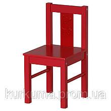 IKEA KRITTER Детский стул, красный  (801.536.97)