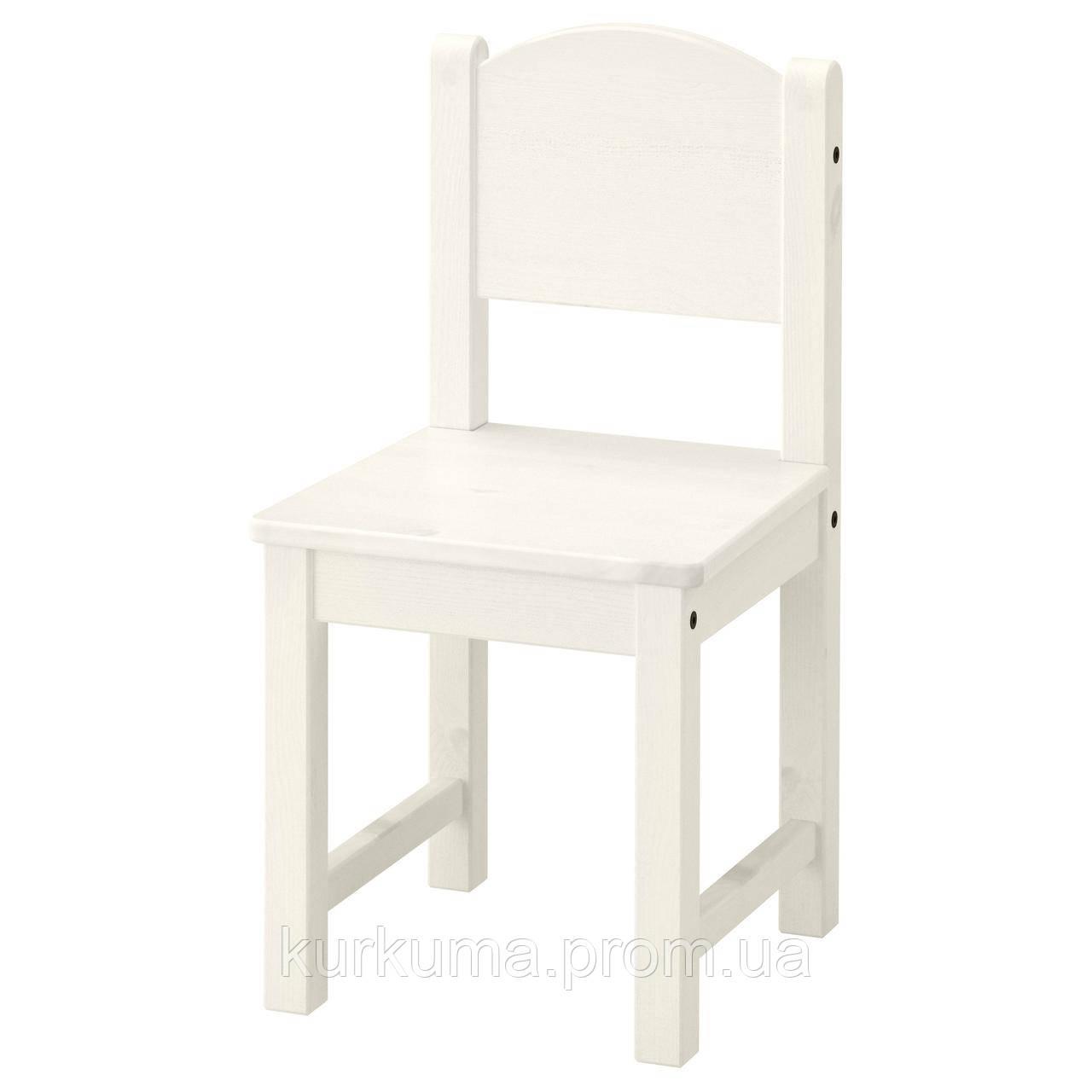 IKEA SUNDVIK Детский стул, белый  (601.963.58)
