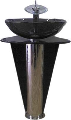 Пьедестал для умывальника (хром/ каленое стекло)
