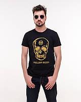 """Модная мужская футболка с принтом """"череп"""", фото 1"""