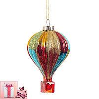 """Елочная игрушка """"Воздушный шар"""", 7х11см (024NB)"""