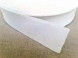 Эластичная тесьма (резинка эластичная) т. 40 мм цвет белый