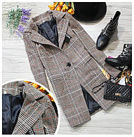 Женское твидовое  классическое пальто