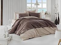 Комплект постельного белья FIRST CHOICE Deluxe Ranforce евро 18 Raina Kahve