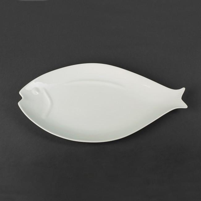 Блюдо для рыбы фарфоровое «Рыба» Helios 410х220 мм. HR1442