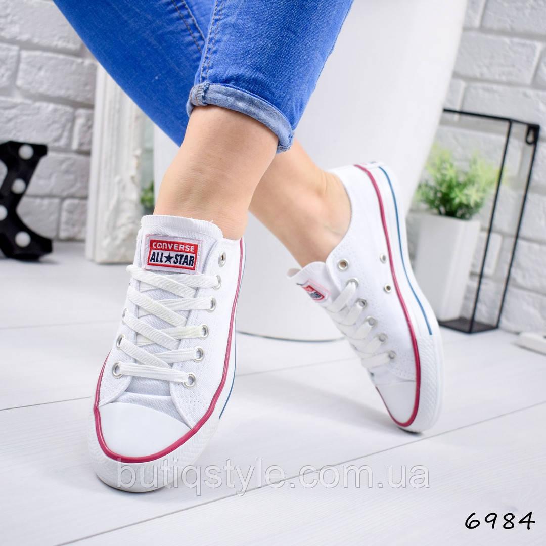 36 размер! Женские белые кеды  текстиль 2019