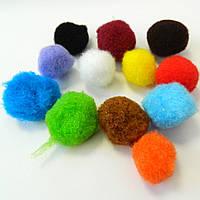 (≈ 240шт) 2,5см Помпончики (помпоны) мягкие шарики для рукоделия, поделок и декора