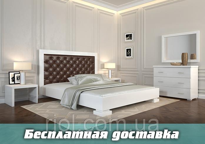 Кровать деревянная Подиум Ромб двуспальная