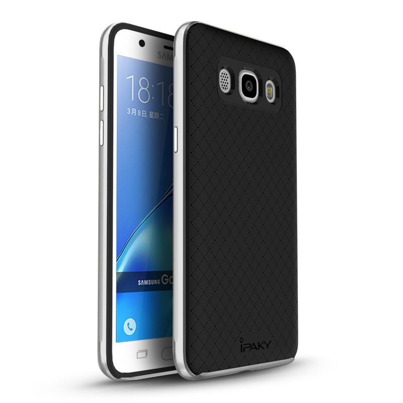 Чехол Ipaky для Samsung J7 2016 J710 J710H бампер оригинальный silver