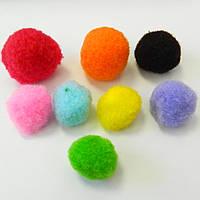 (≈ 120шт) 3см Помпончики (помпоны) мягкие шарики для рукоделия, поделок и декора