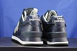Кросівки сині натуральна шкіра і текстиль New Balance 574, фото 3