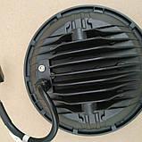 Фара діодна кругла 60 w близький, фото 4