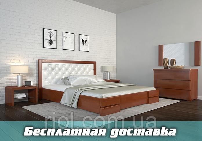 Кровать деревянная двуспальная Регина Люкс Ромб