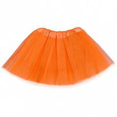 Юбка фатиновая цветная с блеском на резинке, фото 3
