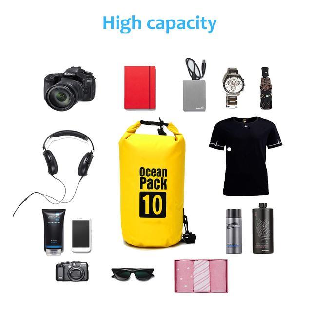 Водонепроницаемая сухая10 L сумка для рюкзака для плавания на байдарках каякинг кемпинг