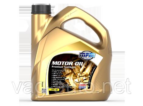Моторне мастило MPM Oil 5W-40 Premium Synthetic 4L