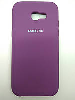 TPU + PC + MicroFiber Silicone Case for Samsung A720 / Galaxy A7 (2017) Purple (пурпурный)