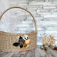 Пасхальная плетеная корзина, фото 1