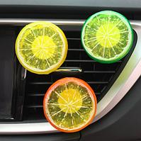 Автомобильный освежитель воздухалимонный + таблетка пахучка 2 цвета