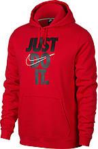 "Толстовка мужская Nike NSW ""Just Do It"" Hoodie PO Fleece 928717-657 Красный Размер L"