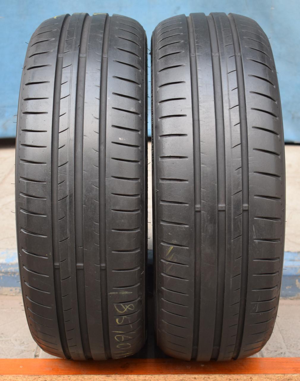 Шины б/у 185/60 R15 Dunlop Sport BluResponse, ЛЕТО, пара, 5,5 мм