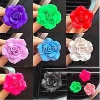Автомобильный освежитель воздуха цветочек  4 цвета + таблетка пахучка , фото 1