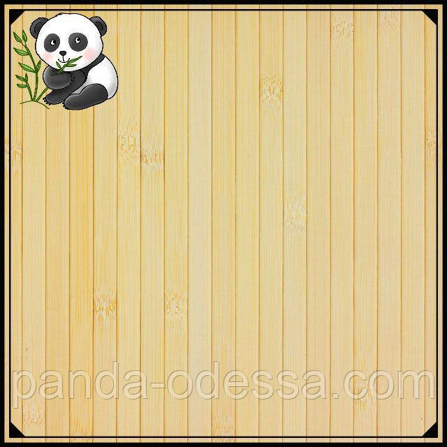 Бамбуковые обои светлые, 2,5 м, ширина планки 12 мм / Бамбукові шпалери