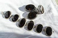 Комплект «Пейзаж»: браслет, серьги, кольцо