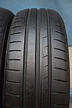 Шины б/у 185/60 R15 Dunlop Sport BluResponse, ЛЕТО, пара, 5,5 мм, фото 3