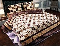 Семейное постельное белье бязь gold - кофе
