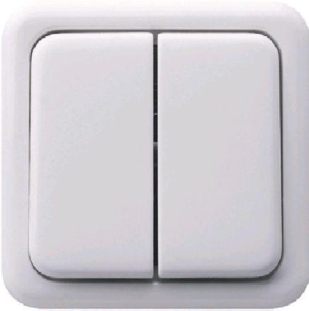 Клавиша для двухклавишного выключателя белый серия Regina Polo Hager