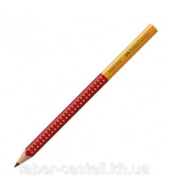 Карандаш чернографитный утолщенный Faber-Castell Jumbo Grip 2001 В, корпус красно-желтый, 111930