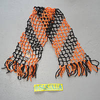 Футбольний шарф футбольного вболівальника Шахтаря плетений