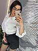 """Модная котоновая блуза с вишывкой """"ришилье"""". Размер: 42-44. Цвет: белый (528), фото 7"""