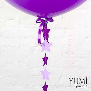 Сиреневый шар-гигант гелиевый с гирляндой , фото 2
