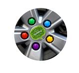 Комплект защитных колпачков на колесные гайки с ключом 17 мм разноцветные, фото 7
