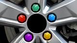 Комплект защитных колпачков на колесные гайки с ключом 17 мм разноцветные, фото 9