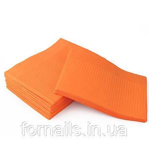 Салфетки ламинированные 25 шт, оранжевые