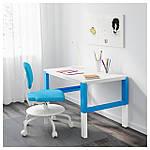 IKEA PAHL Стол, белый, синий  (791.289.39), фото 2