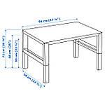 IKEA PAHL Стол, белый, синий  (791.289.39), фото 6