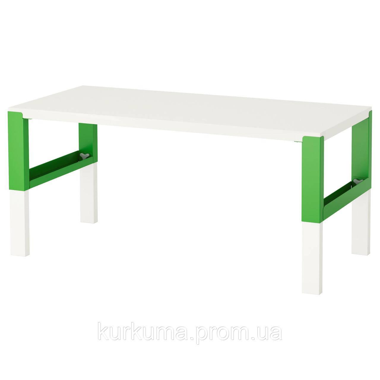 IKEA PAHL Стол, белый, зеленый  (691.289.49)