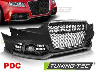 Передний бампер обвес Audi A5 8T стиль RS5 (12-16) хром рамка