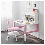 IKEA PAHL Стол с дополнительной надставкой, белый, розовый  (591.289.59), фото 2