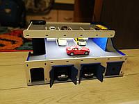 Деревянный гараж для машинок, фото 1