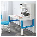 IKEA PAHL Стол с полкой, белый, синий  (291.289.94), фото 2