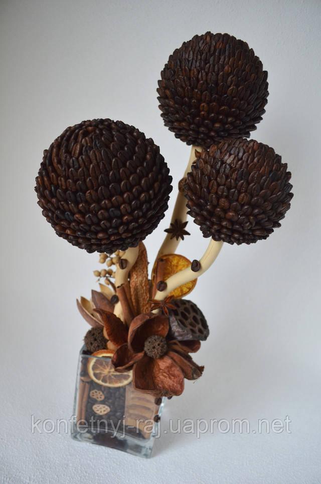 Дерево из кофе интерьерный