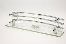 Полка на 4-е отверстия 240Х40 мм ( Одно стекло с хромированными релингами ) ПС603, фото 2