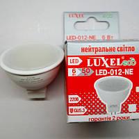 Светодиодная лампа Luxel MR16 6W (аналог лампы накаливания мощностью 50 Вт) под сафит
