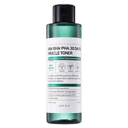 Тонер для проблемной кожи с кислотами Some By Mi AHA-BHA-PHA 30 Days Miracle Toner